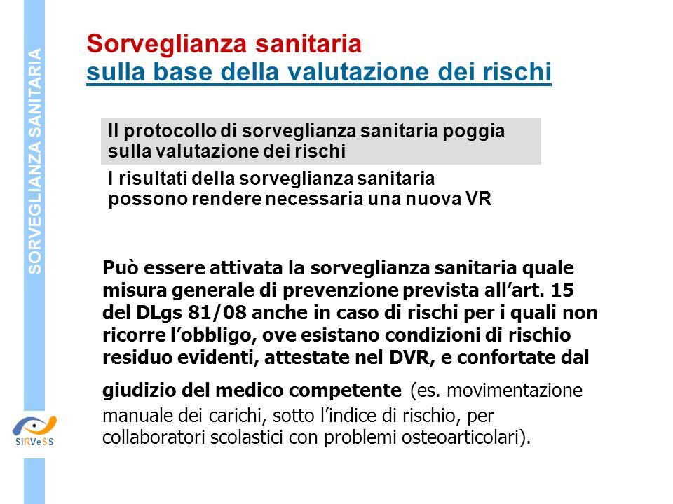 Può essere attivata la sorveglianza sanitaria quale misura generale di prevenzione prevista allart. 15 del DLgs 81/08 anche in caso di rischi per i qu