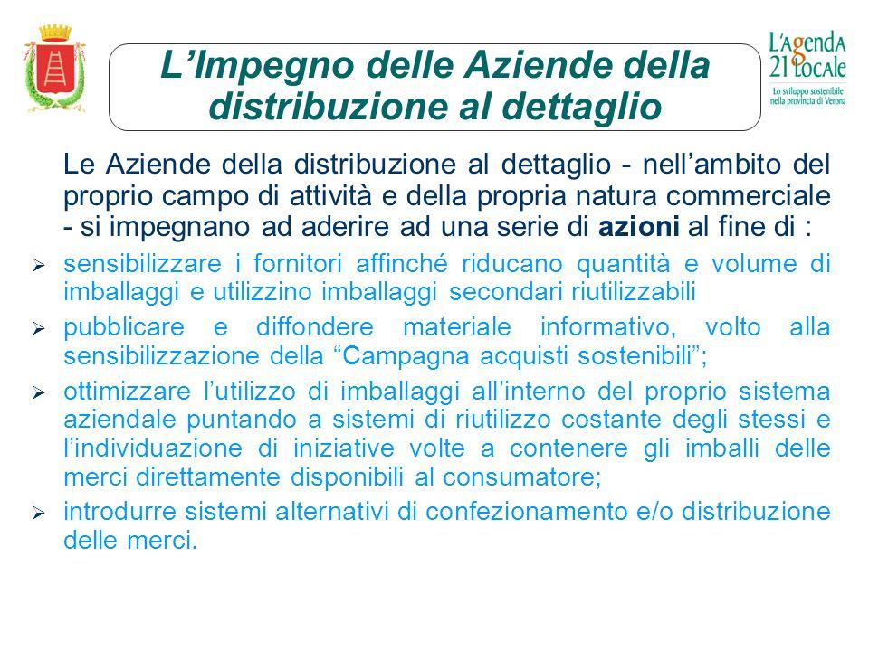 Impegno della Confcommercio Verona La Confcommercio Verona si impegna a: - diffondere presso i propri associati la Campagna acquisti sostenibili - a promuoverne ladesione.