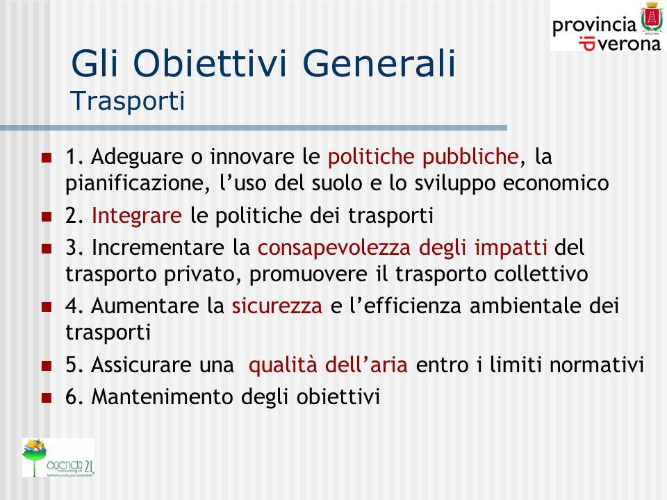 Gli Obiettivi Generali Trasporti 1.