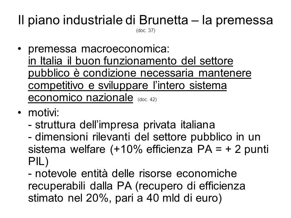 Il piano industriale di Brunetta – la premessa (doc.