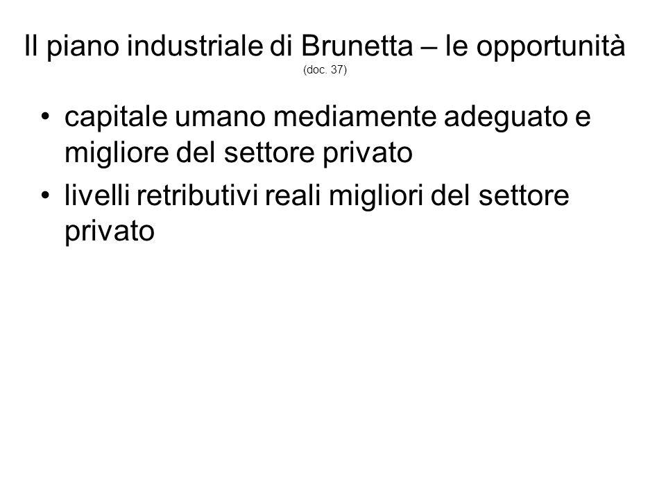 Il piano industriale di Brunetta – le opportunità (doc.