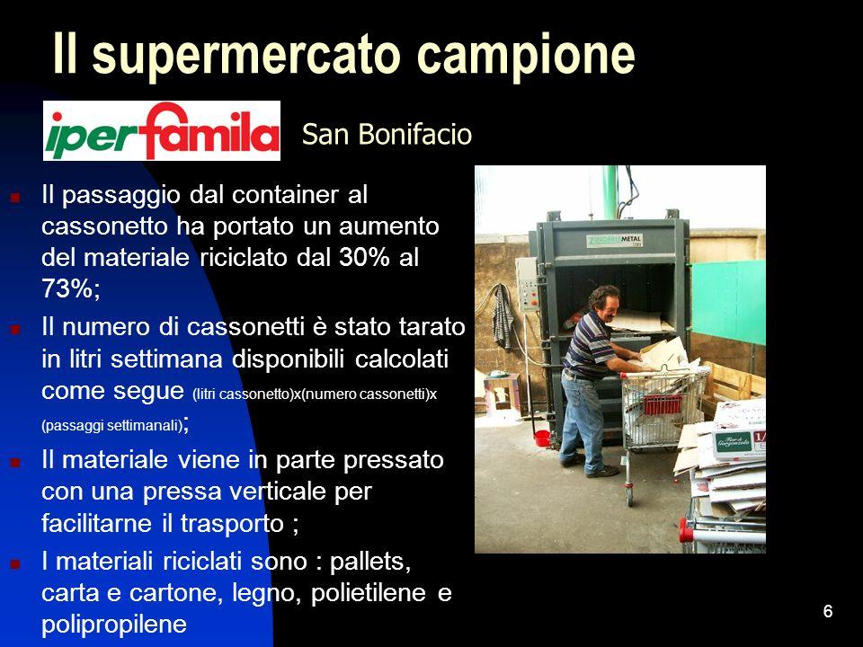 7 La lavorazione presso il centro distributivo Compattamento dei materiali con pressa in continuo; Contratto di cessione legato ai valori della Borsa Merci di Milano;