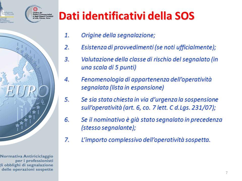 8 Elementi informativi strutturati: 1.