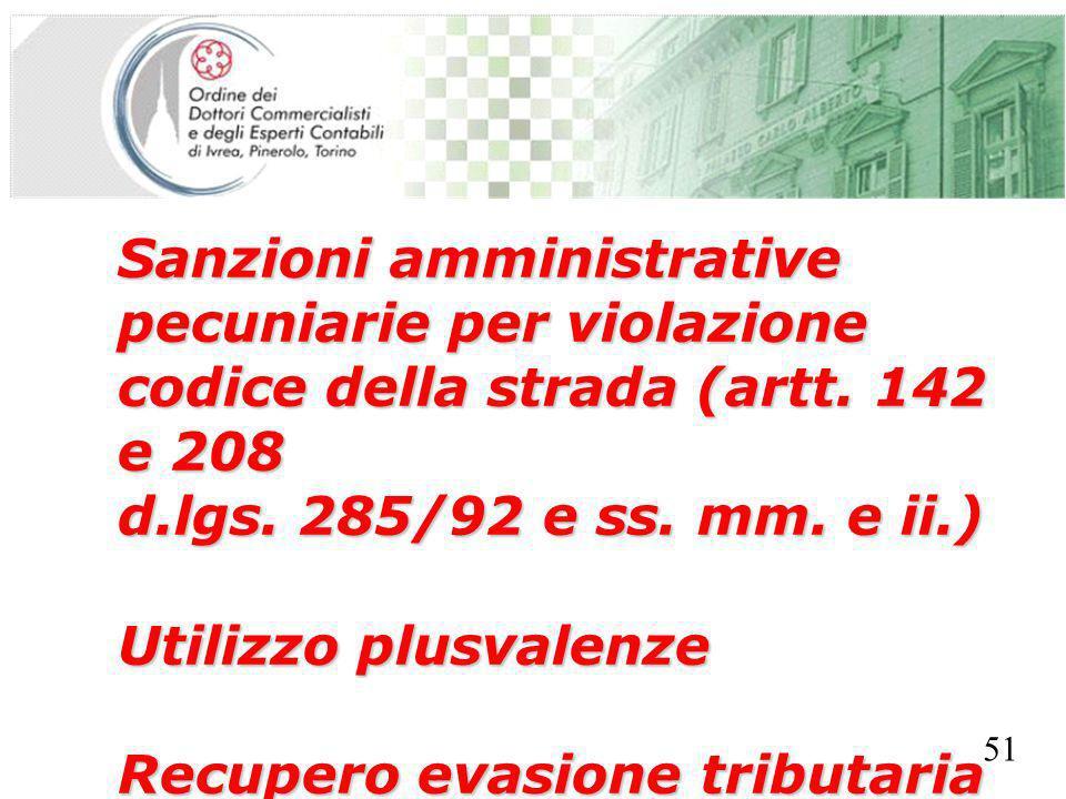 SEGRETERIA PROVINCIALE - TORINO Sanzioni amministrative pecuniarie per violazione codice della strada (artt.