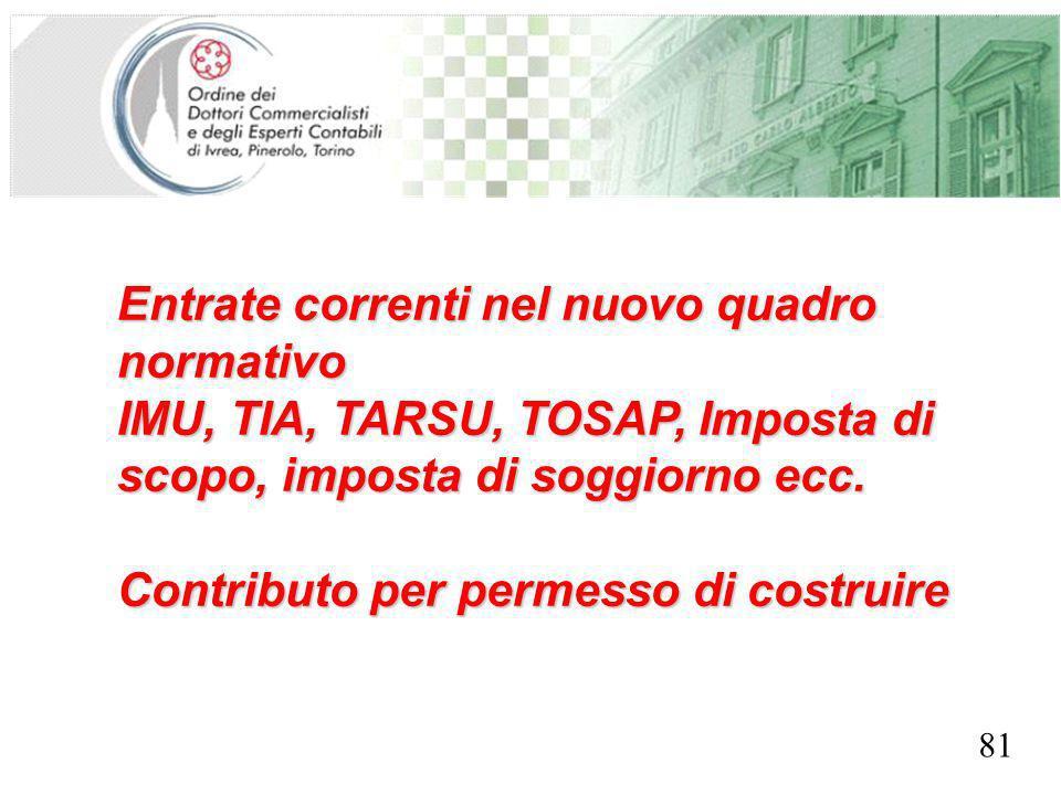 SEGRETERIA PROVINCIALE - TORINO Entrate correnti nel nuovo quadro normativo IMU, TIA, TARSU, TOSAP, Imposta di scopo, imposta di soggiorno ecc.