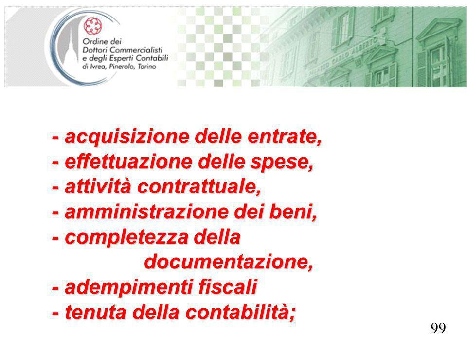 SEGRETERIA PROVINCIALE - TORINO - acquisizione delle entrate, - effettuazione delle spese, - attività contrattuale, - amministrazione dei beni, - comp