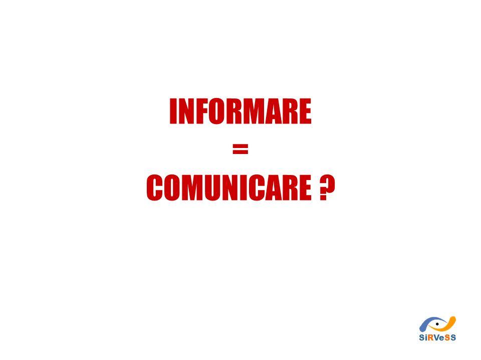 COMUNICARE Trasmettere informazioni, ascoltando, stimolando o provocando una risposta in chi le riceve.