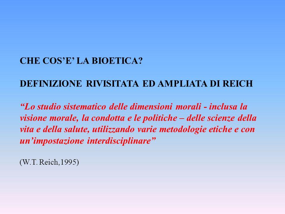 Letica è la giustificazione razionale delle valutazioni morali La bioetica è letica applicata alla biomedicina