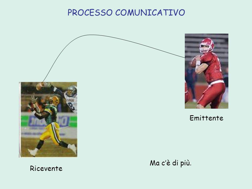 area del canale E messaggio R contesto della comunicazione codificadecodifica codice Emittente chi/cosa comunica il messaggioRicevente chi riceve il messaggio Messaggio il contenuto di ciò che si comunica.