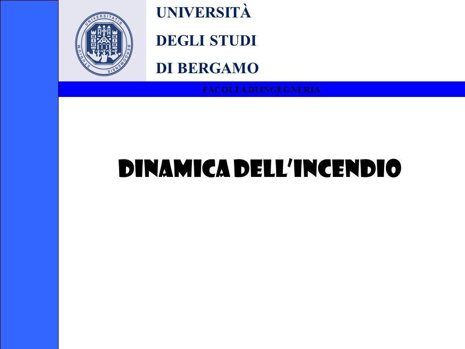 UNIVERSITÀ DEGLI STUDI DI BERGAMO FACOLTÀ DI INGEGNERIA DINAMICA DELLINCENDIO