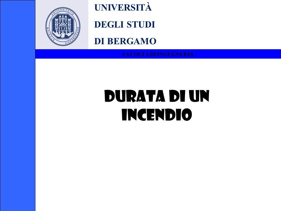 UNIVERSITÀ DEGLI STUDI DI BERGAMO FACOLTÀ DI INGEGNERIA DURATA DI UN INCENDIO