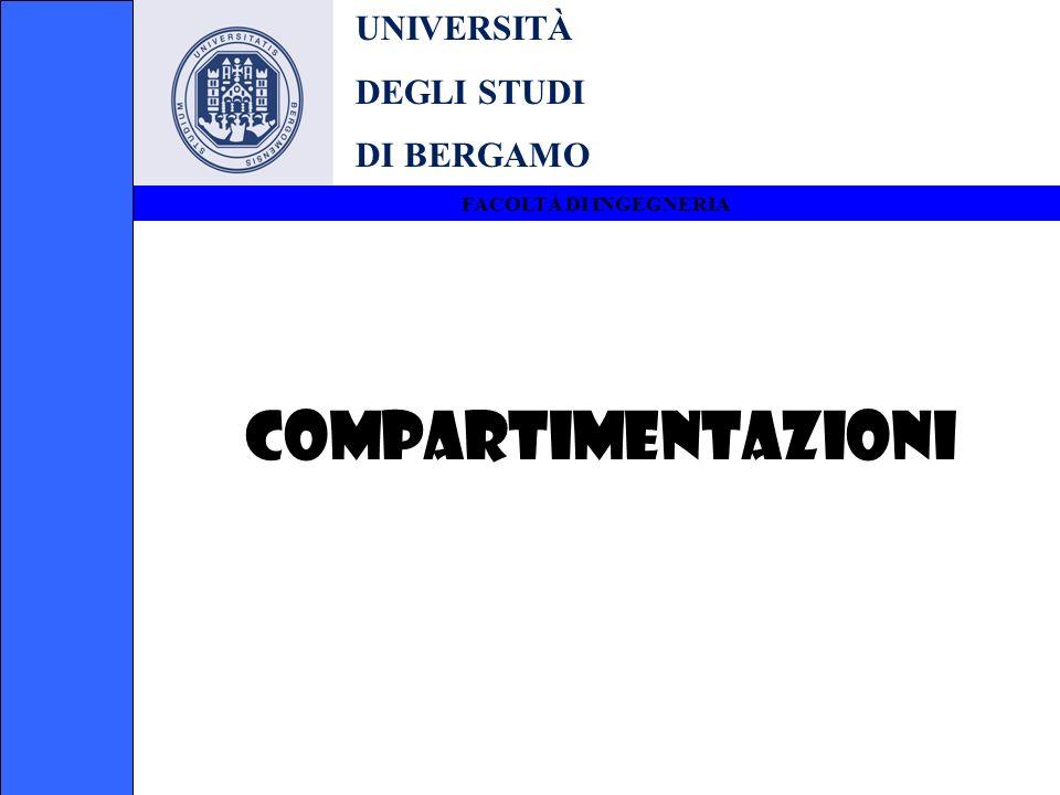 UNIVERSITÀ DEGLI STUDI DI BERGAMO FACOLTÀ DI INGEGNERIA COMPARTIMENTAZIONI