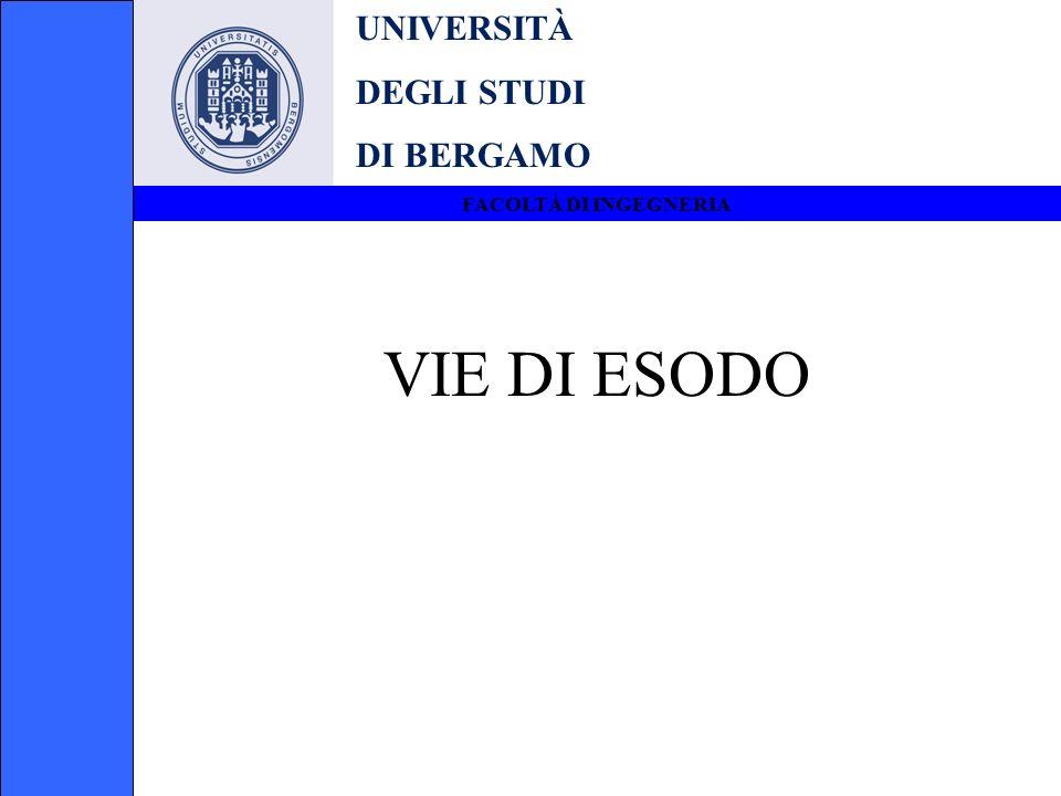 UNIVERSITÀ DEGLI STUDI DI BERGAMO FACOLTÀ DI INGEGNERIA VIE DI ESODO