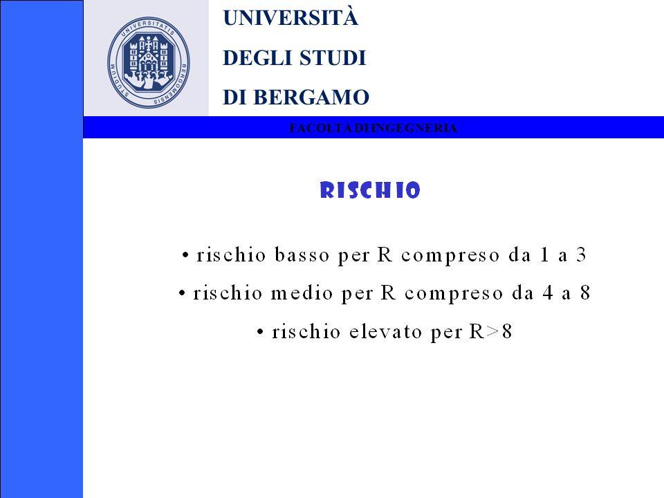 UNIVERSITÀ DEGLI STUDI DI BERGAMO FACOLTÀ DI INGEGNERIA Per le attività di cui ai punti 85 e 86 del D.M.
