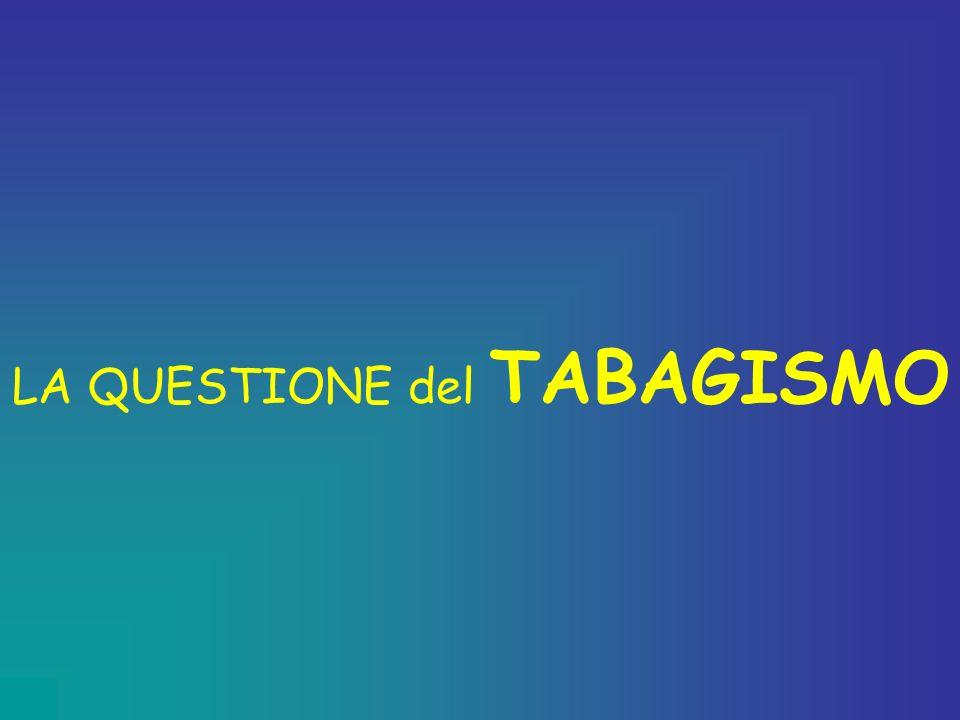 LA QUESTIONE del TABAGISMO