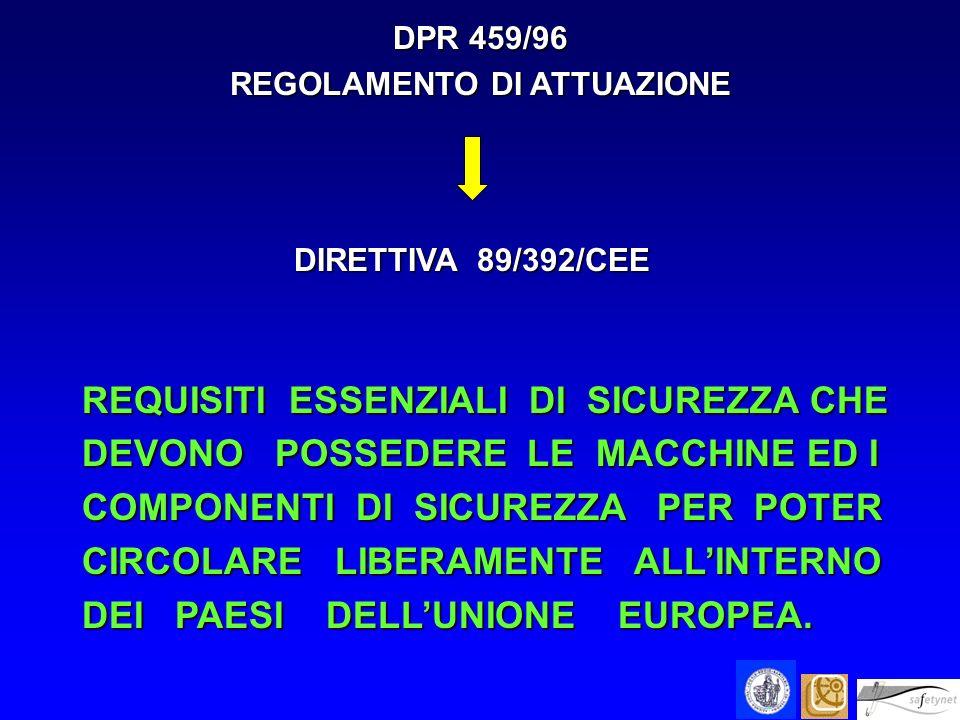 LO SCOPO DELLE DIRETTIVE COMUNITARIE RECEPITE CON IL D.P.R.