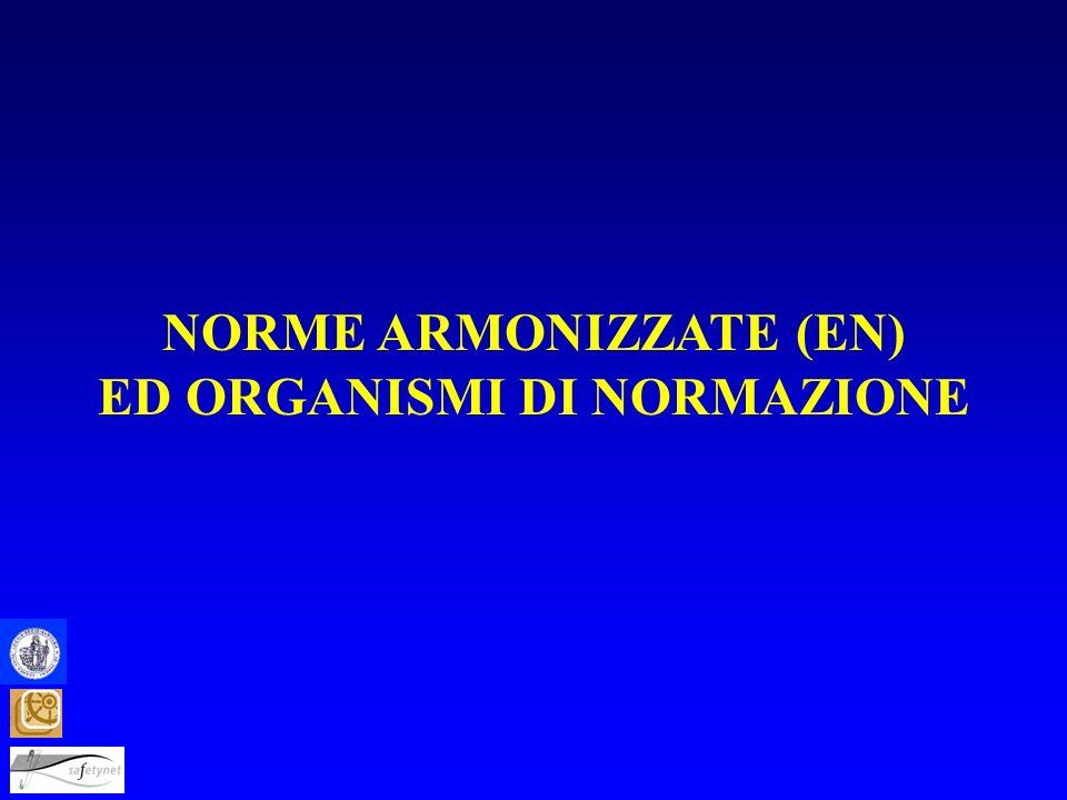 NORME ARMONIZZATE (EN) ED ORGANISMI DI NORMAZIONE