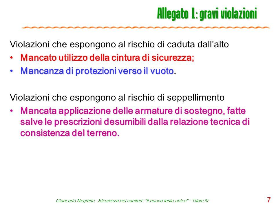 Giancarlo Negrello - Sicurezza nei cantieri: Il nuovo testo unico - Titolo IV 38 Allegato XVII - Idoneità tecnico professionale 1.