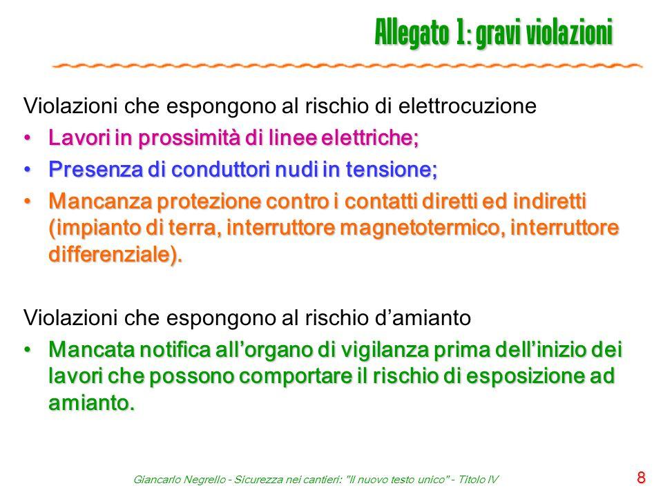 Giancarlo Negrello - Sicurezza nei cantieri: Il nuovo testo unico - Titolo IV 49 Articolo 92 - Obblighi del CSE 1.