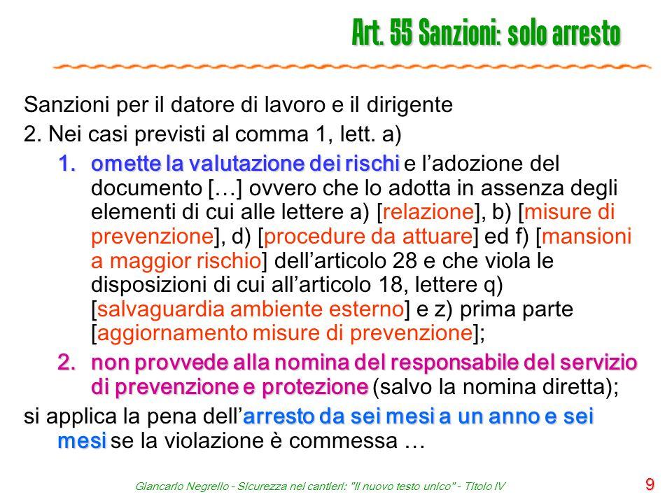 Giancarlo Negrello - Sicurezza nei cantieri: Il nuovo testo unico - Titolo IV 60 Art.