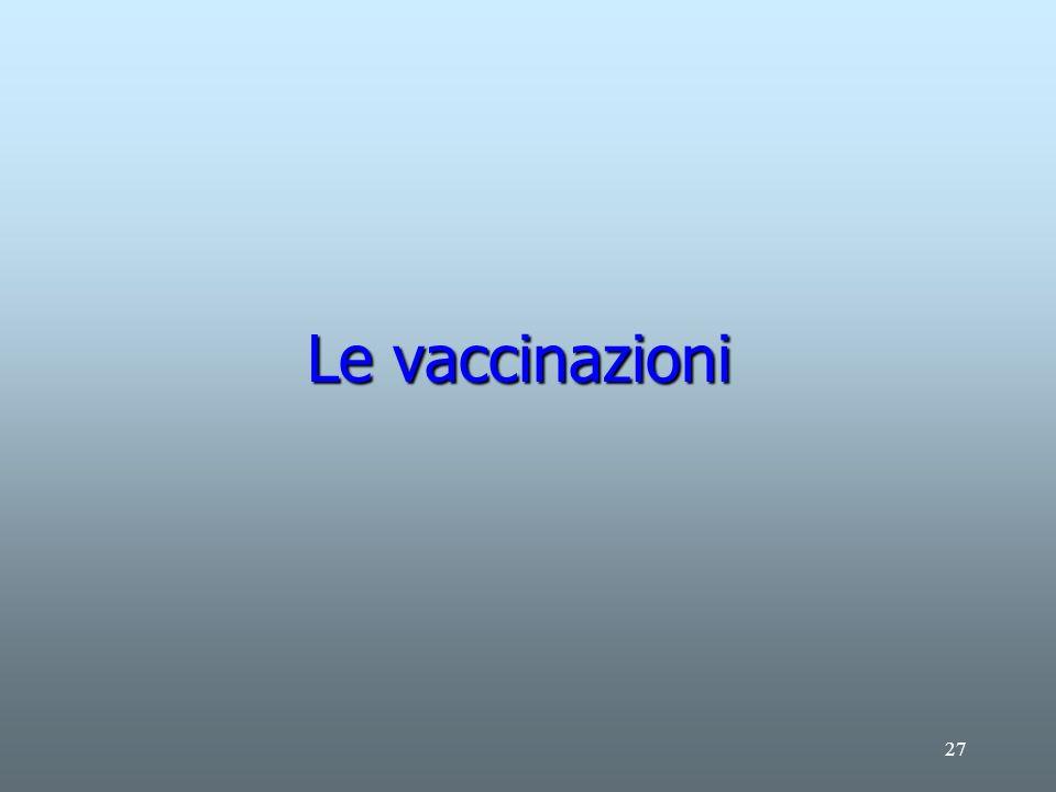 27 Le vaccinazioni