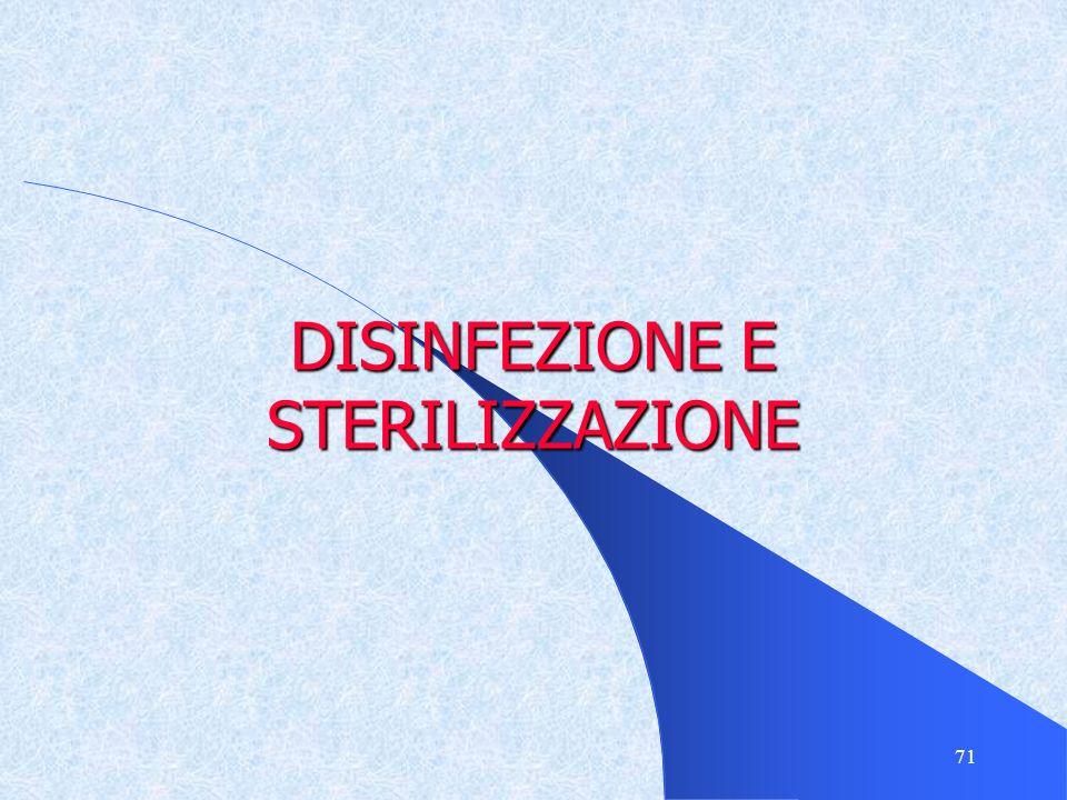 71 DISINFEZIONE E STERILIZZAZIONE