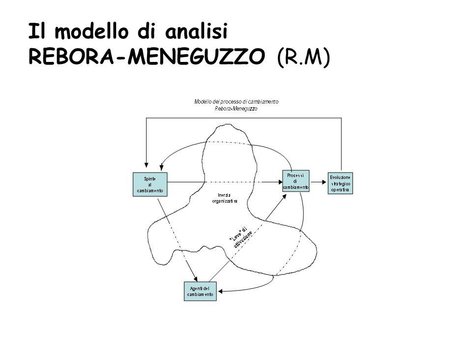 Il modello di analisi REBORA-MENEGUZZO (R.M)