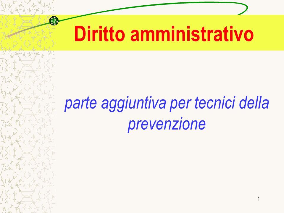 1 parte aggiuntiva per tecnici della prevenzione Diritto amministrativo