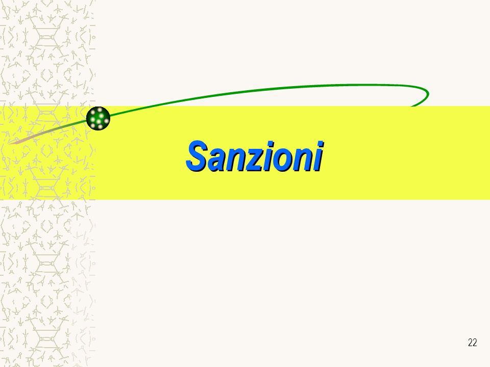 22 Sanzioni