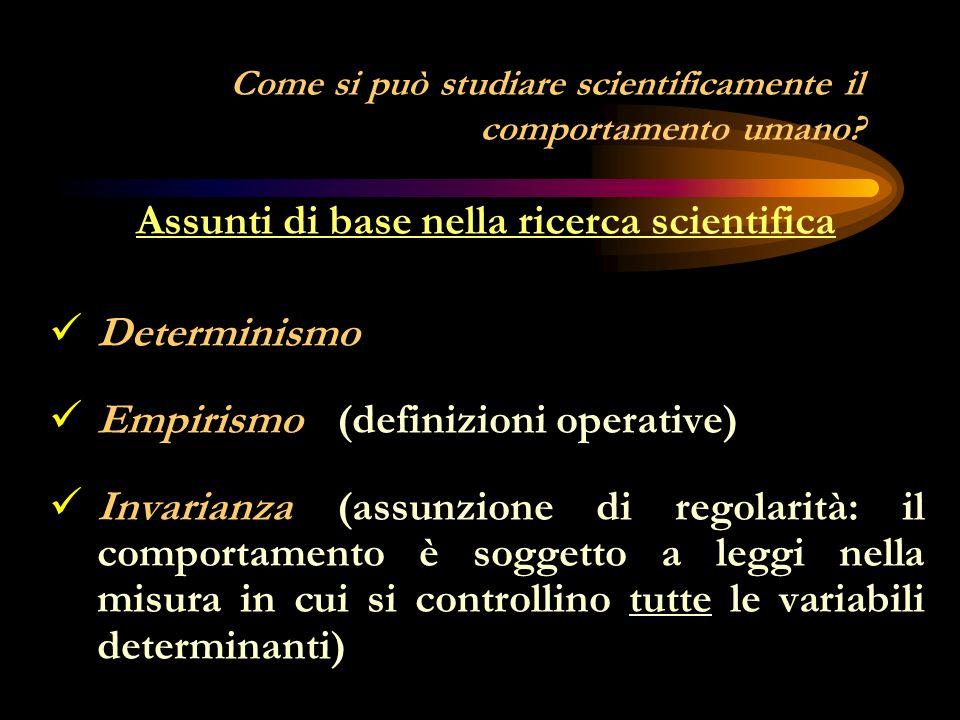 La psicologia del senso comune (ingenua) e la psicologia scientifica È difficile sviluppare una disciplina scientifica senza accettare almeno alcune assunzioni e credenze proposte dal senso comune.