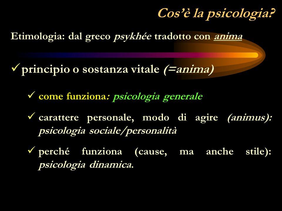 Domande fondamentali Cosè la psicologia.