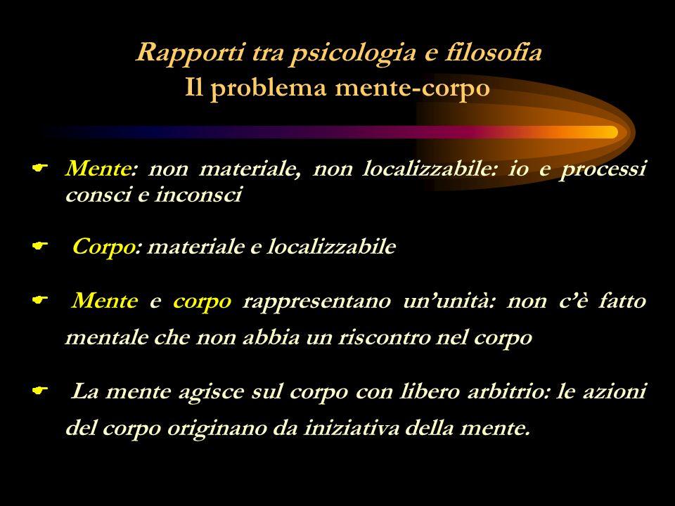 RELAZIONE TRA LE VARIE DISCIPLINE PSICOLOGIA FILOSOFIA MATEMATICA SCIENZE POLIT.
