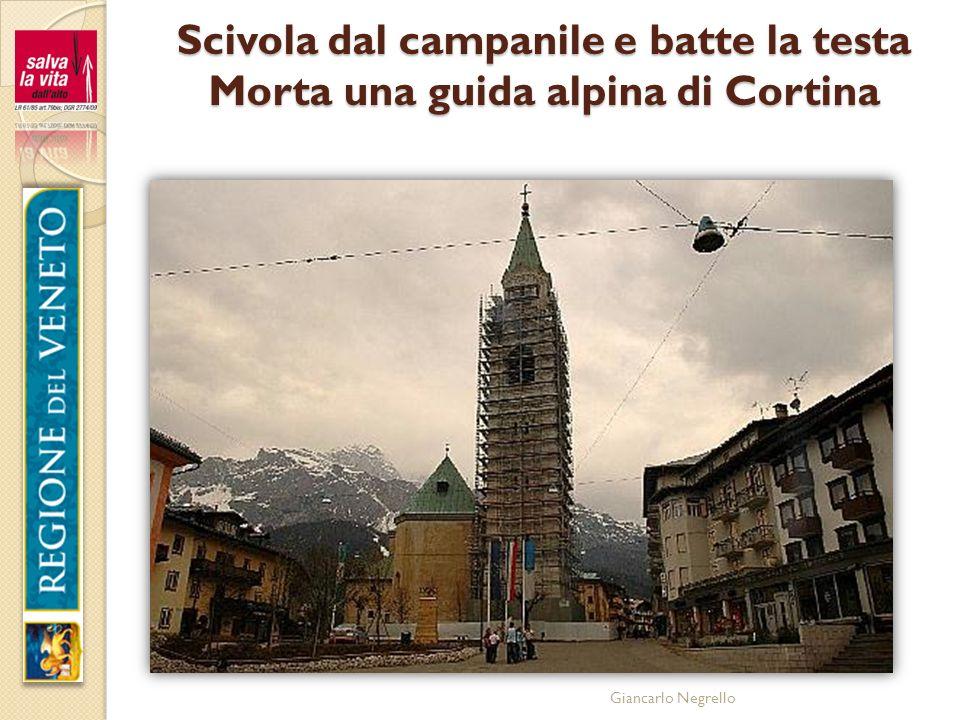 Giancarlo Negrello Scivola dal campanile e batte la testa Morta una guida alpina di Cortina