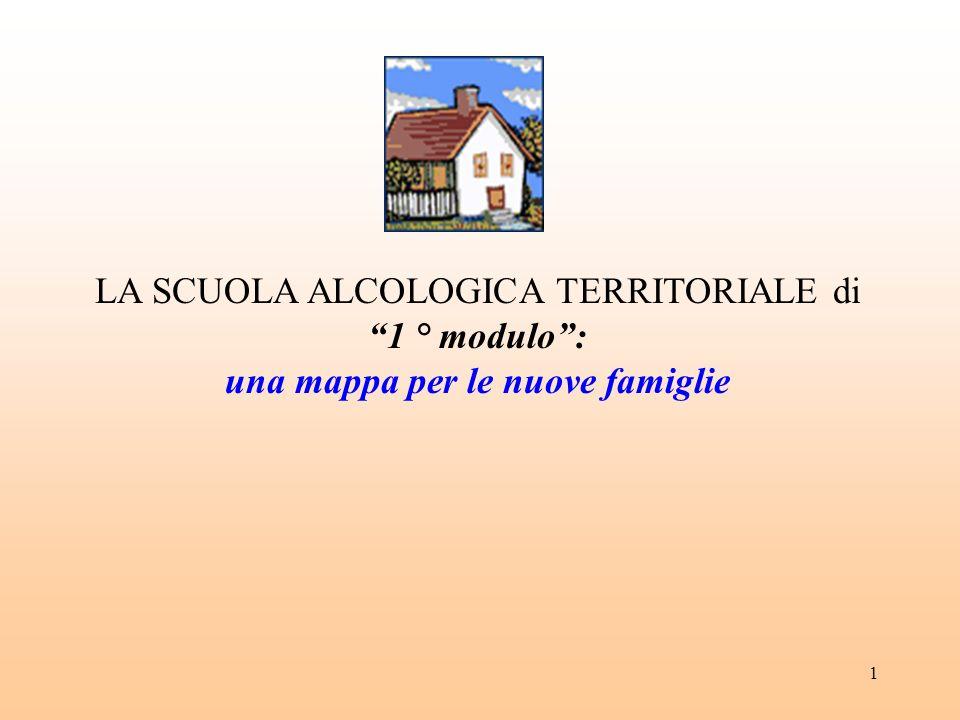 1 LA SCUOLA ALCOLOGICA TERRITORIALE di 1 ° modulo: una mappa per le nuove famiglie