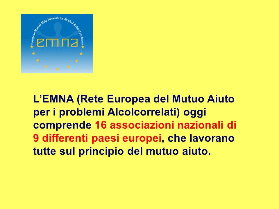 LEMNA (Rete Europea del Mutuo Aiuto per i problemi Alcolcorrelati) oggi comprende 16 associazioni nazionali di 9 differenti paesi europei, che lavoran