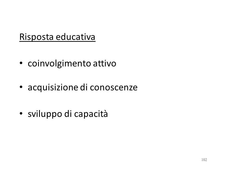 CENTRI SOCIOASSISTNZIALI ED EDUCATIVI Bisogni carenze/difficoltà soggettive specifiche carenze/difficoltà oggettive specifiche 101
