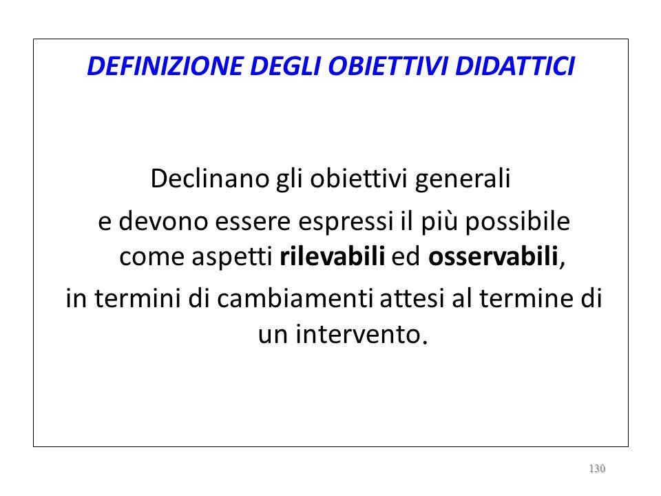 2.6. DEFINIZIONE DEI TRAGUARDI DELLAZIONE DIDATTICO-EDUCATIVA DEFINIZIONE DEGLI OBIETTIVI GENERALI/EDUCATIVI Mete, traguardi da perseguire in risposta
