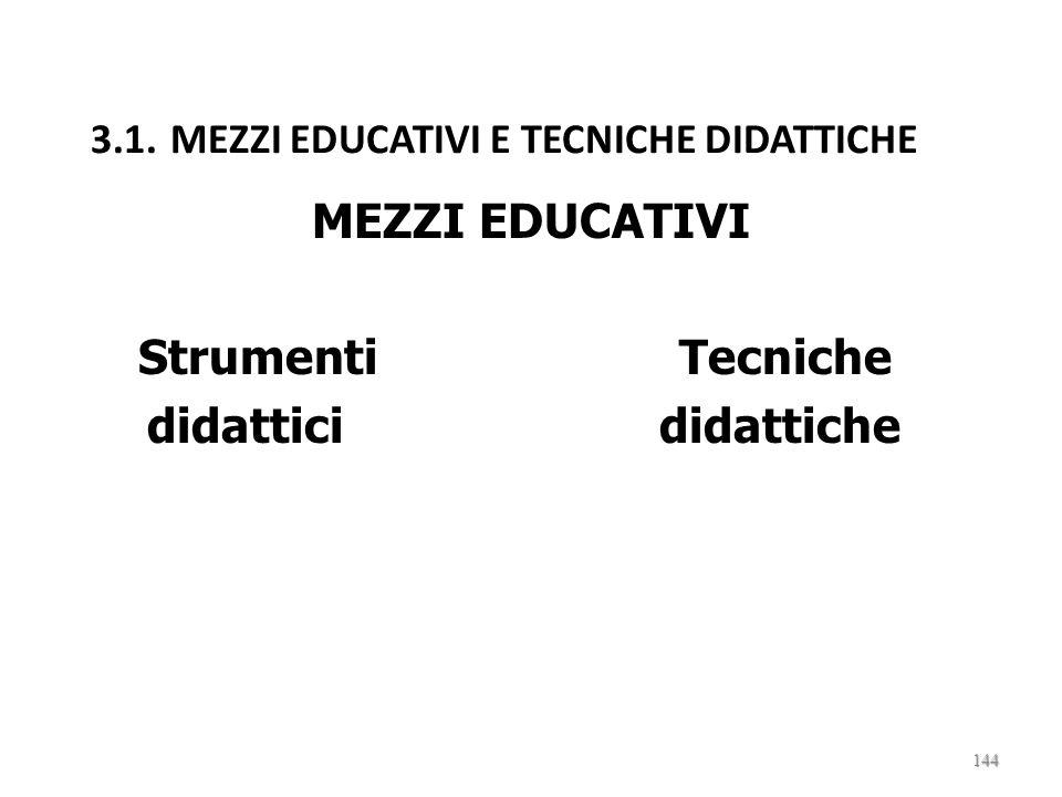 3. STRATEGIE E TECNICHE DIDATTICHE 143