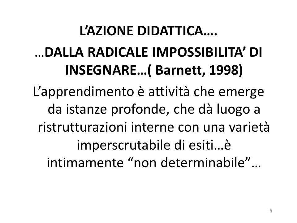 LETTURA DELLESISTENTE Interpretazione QUADRO IDEALE 126
