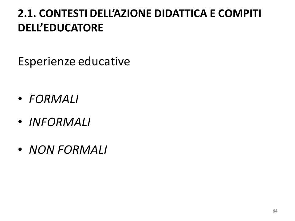 2. PROGETTARE, ORGANIZZARE, GESTIRE LINTERVENTO EDUCATIVO 83
