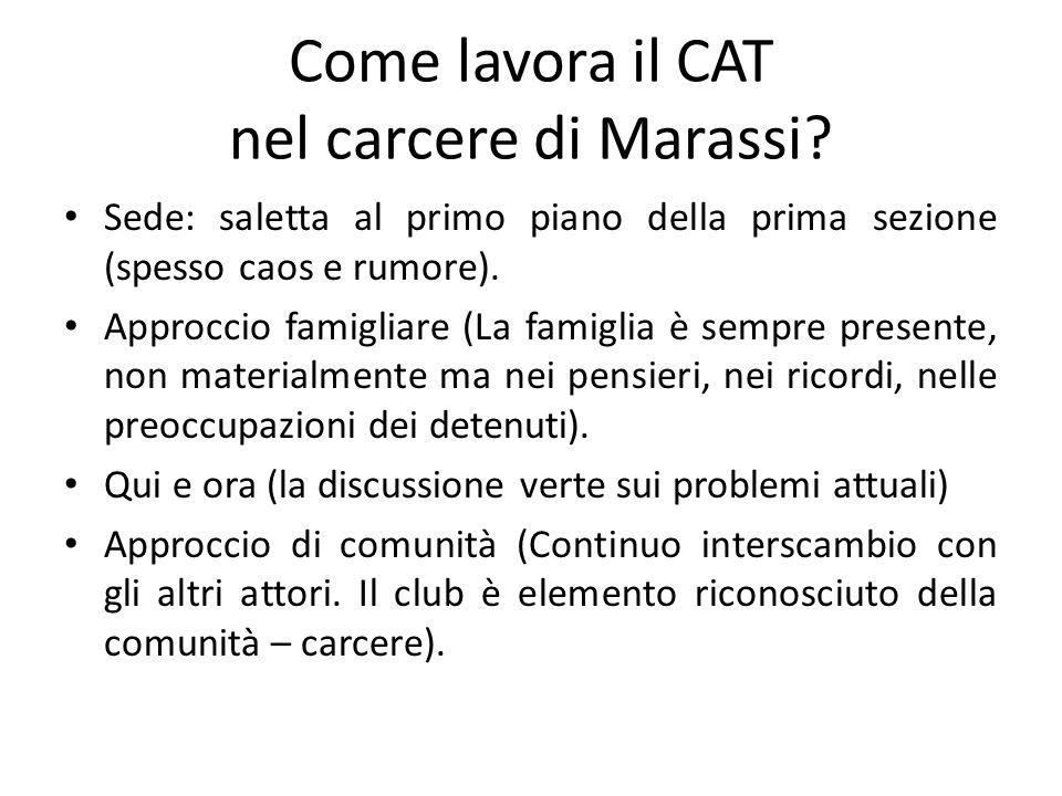 Come lavora il CAT nel carcere di Marassi.