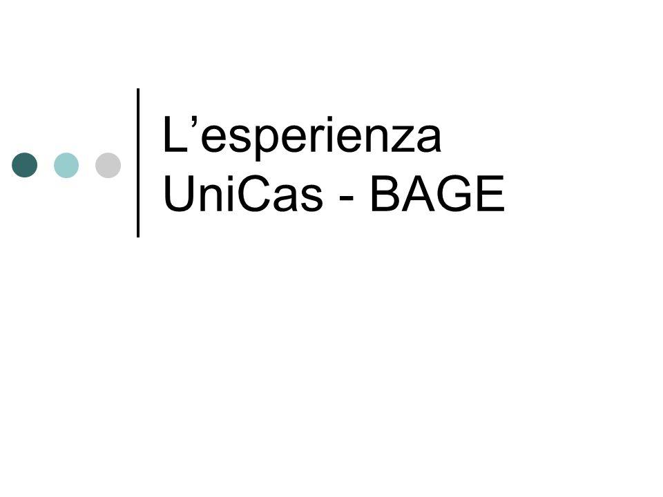 Lesperienza UniCas - BAGE