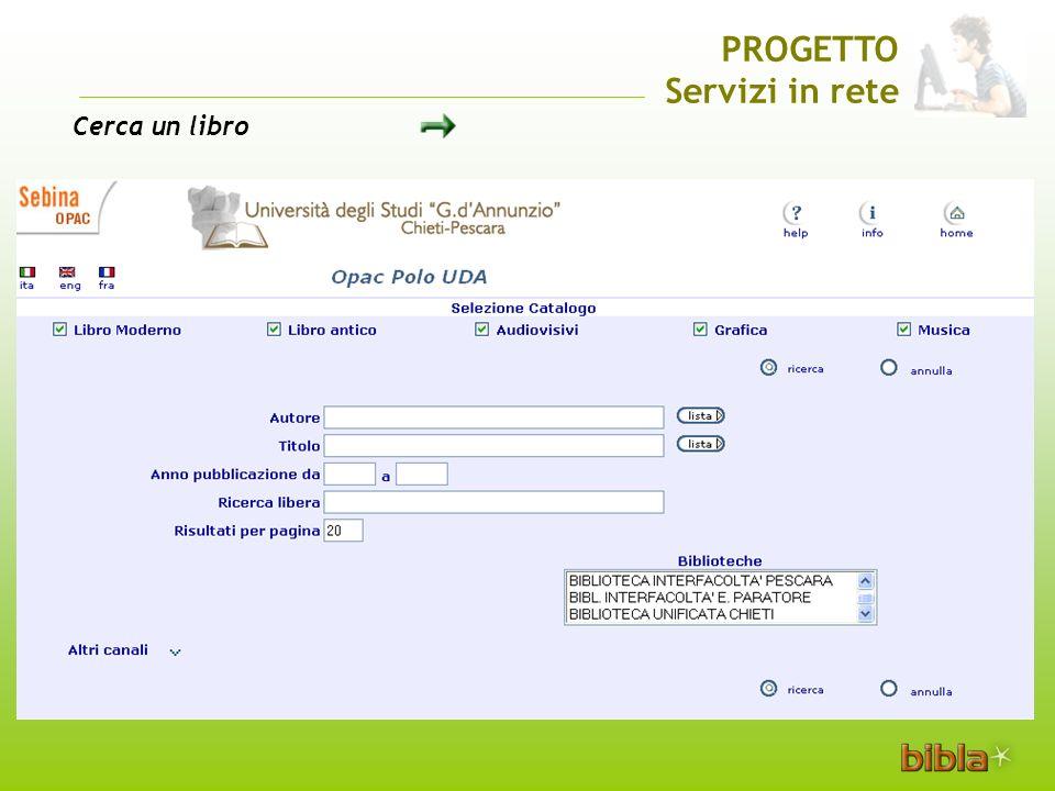 PROGETTO Servizi in rete Cerca un libro