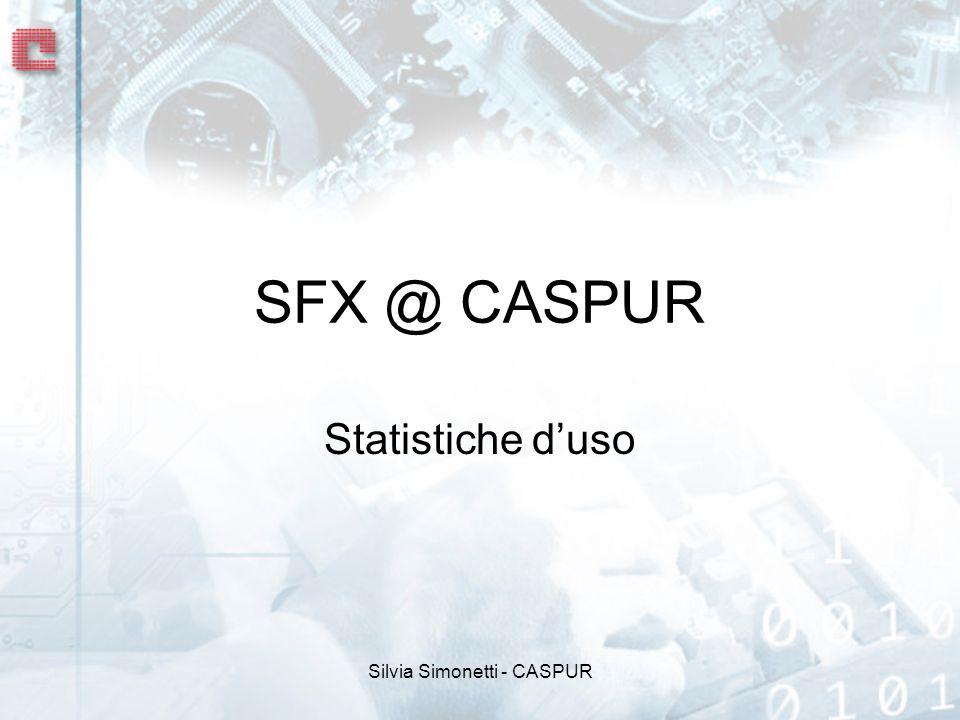 Silvia Simonetti - CASPUR SFX @ CASPUR Statistiche duso