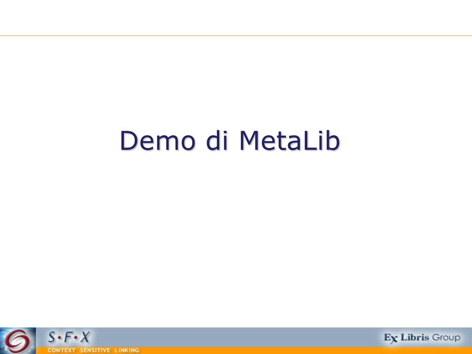Demo di MetaLib