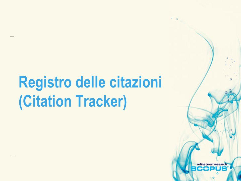 Registro delle citazioni (Citation Tracker)