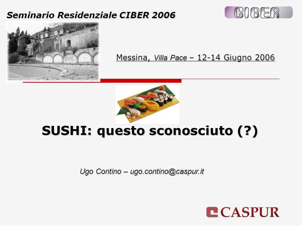 Seminario Residenziale CIBER 2006 Messina, Villa Pace – 12-14 Giugno 2006 Ugo Contino – ugo.contino@caspur.it