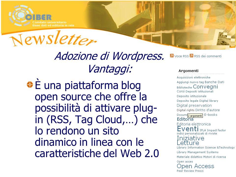 Adozione di Wordpress.