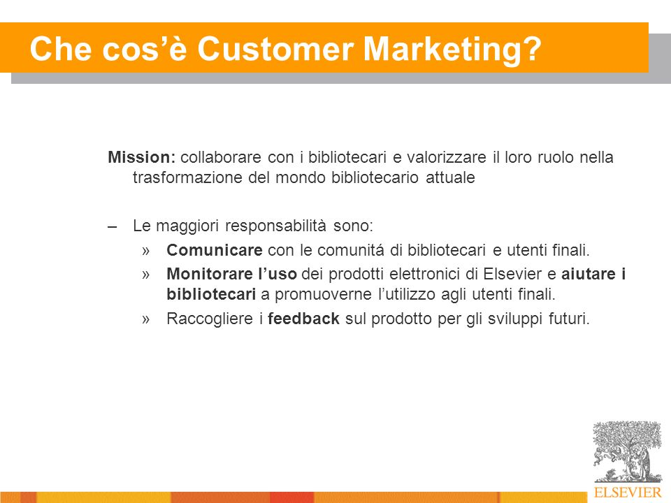 Che cosè Customer Marketing.
