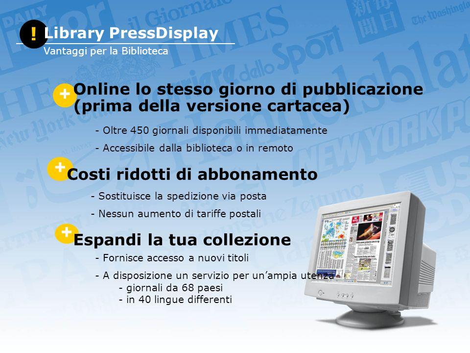 Visualizzazione facilitata e tasti opzioni (blog, email, audio, stampa, ecc.)